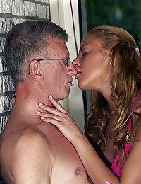 A much older horny dude banging a young willing teen hottie